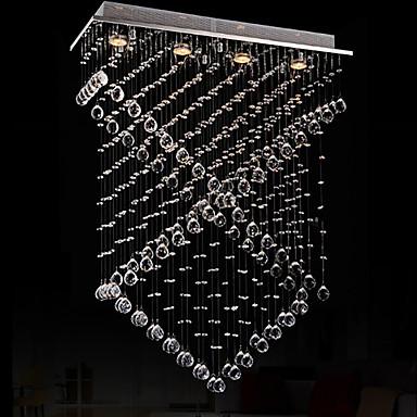306 02 Montage Du Flux Moderne Contemporain Plafonnier Pour Ilot De Cuisine Chrome Fonctionnalite For Cristal Led Designers Metalsalle De