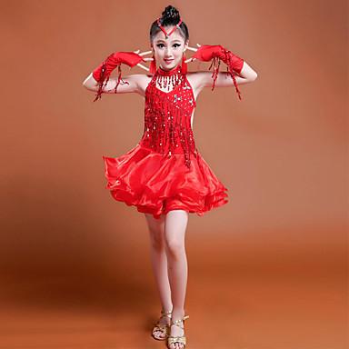 Budeme latinské taneční šaty děti výkon 7 kusů šaty 5586194 2019 –  54.99 cbaedcbb76