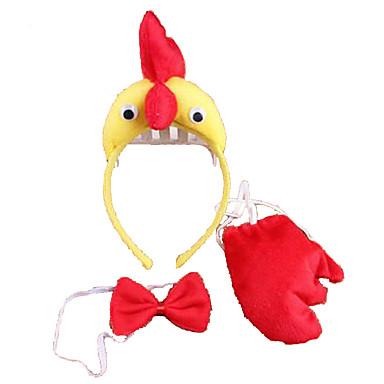 CHENTAO หมวก ไก่ Plush ผู้ใหญ่ ทุกเพศ เด็กผู้ชาย เด็กผู้หญิง Toy ของขวัญ 3 pcs