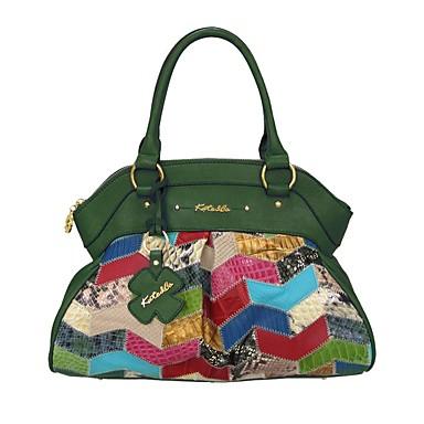 cheap Handbag & Totes-Women's Bags Cowhide Tote for Daily Emerald Green / Hunter Green