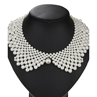 cheap Necklaces-Pearl Collar Necklace Ladies Vintage Euramerican Pearl Imitation Pearl Alloy White Necklace Jewelry 1pc For Wedding Party Birthday Daily Masquerade Engagement Party