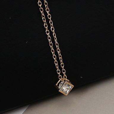 povoljno Modne ogrlice-Žene Ogrlice s privjeskom Duga ogrlica Moda Svaki dan Umjetno drago kamenje Imitacija dijamanta Legura Zlato Pink Ogrlice Jewelry Za Kauzalni