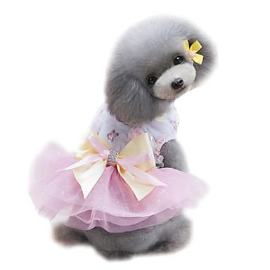 สุนัข ชุดเดรสต่างๆ Tuxedo Dog Clothes สีฟ้า สีเขียว สีชมพู เครื่องแต่งกาย ชีฟอง เจ้าหญิง การแต่งงาน แฟชั่น XS S M L XL
