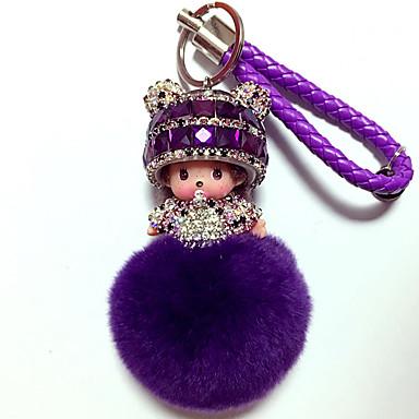 preiswerte Schlüsselanhänger-Schlüsselanhänger Diamant lieblich Krystall 1 pcs Zeichentrick Erwachsene Jungen Mädchen Spielzeuge Geschenk