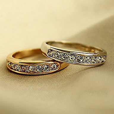 levne Dámské šperky-Prsten Kubický zirkon Zlatá Stříbrná Zirkon Slitina Svatební Párty Šperky přátelství
