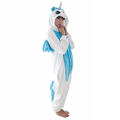 ผู้ใหญ่ Kigurumi Pajama Unicorn ม้าขนาดเล็ก Onesie Pajama ผ้าขนแกะปะการัง ฟ้า / สีชมพู คอสเพลย์ สำหรับ ผู้ชายและผู้หญิง สัตว์ชุดนอน การ์ตูน Festival / Holiday เครื่องแต่งกาย