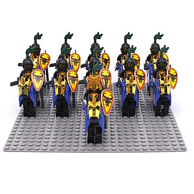 ENLIGHTEN Building Blocks Block Minifigures ของเล่นชุดก่อสร้าง ของเล่นการศึกษา 11 pcs Military นักรบ ปราสาท เด็กผู้ชาย เด็กผู้หญิง Toy ของขวัญ