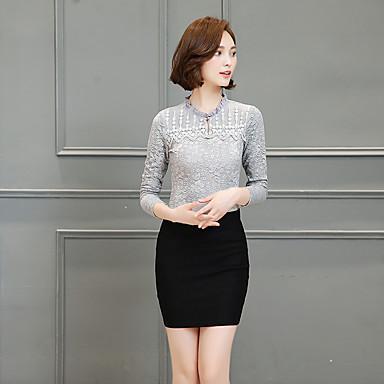 5739ffe1364e [$11.69] firmar 2016 nueva camisa de encaje pura costura malla blanca de  invierno femenina camisa de manga larga delgada