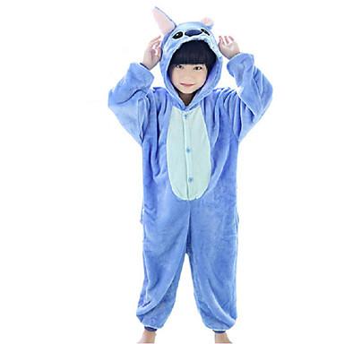 สำหรับเด็ก Kigurumi Pajama การ์ตูนอานิเมะ มอนสเตอร์สีน้ำเงิน Onesie Pajama ผ้าขนแกะปะการัง ฟ้า / กุหลาบ คอสเพลย์ สำหรับ เด็กชายและเด็กหญิง สัตว์ชุดนอน การ์ตูน Festival / Holiday เครื่องแต่งกาย
