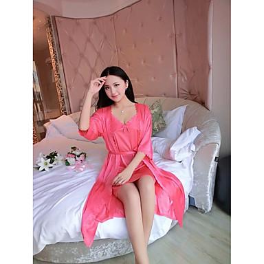 Jingdong az új kétrészes selyem pizsama szexi fehérnemű v-nyakú hálóing női  melegítő ruha 5578491 2019 –  9.44 fa7cee865e