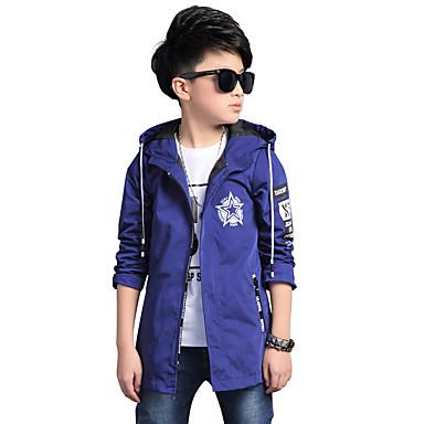 povoljno Odjeća za dječake-Djeca Dječaci Cvijetan Dnevno Print Dugih rukava Normalne dužine Baloner Plava