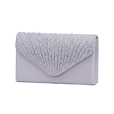 cheap Clutches & Evening Bags-Women's Crystal / Rhinestone Polyester Evening Bag / Tri-fold Rhinestone Crystal Evening Bags Navy Blue / Almond / Wine / Wedding Bags / Wedding Bags