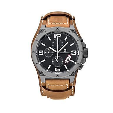 levne Pánské-Pánské Sportovní hodinky Křemenný Kůže Orange 30 m Analog - Digitál Bílá Žlutá