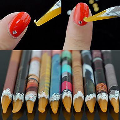 1pcs Rhinestones Bead Picker Wax Resin Pencil Nail Art Dotting Tool
