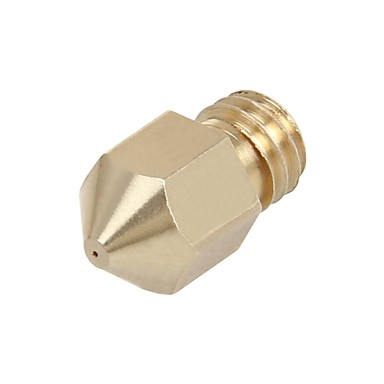 5pcs Newest Spare Brass M6 nozzle for extruder MK8 extruder with multiple size