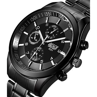 levne Pánské-BOSCK Pánské Vojenské hodinky Náramkové hodinky Letecké hodinky Křemenný Nerez Černá 50 m Svítící Cool Punk Analogové Přívěšky Na běžné nošení Módní - Černá Šedá Růžová Dva roky Životnost baterie