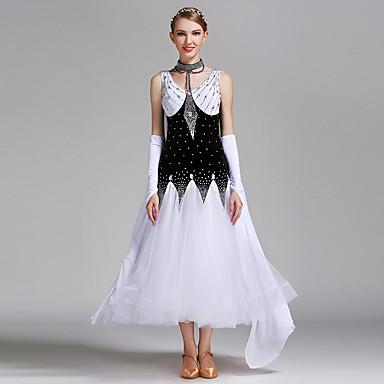 c1cff736aff [$148.04] Επίσημος Χορός Φορέματα Γυναικεία Επίδοση Spandex / Τούλι /  Βελούδο Κρύσταλλοι / ...