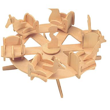 voordelige 3D-puzzels-Bouwblokken / 3D-puzzels / Legpuzzel Beroemd gebouw / Chinese architectuur / Carrousel Schattig / professioneel niveau / DHZ Puinen 1 pcs