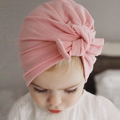 cheap Kids' Accessories-Toddler Boys' / Girls' Cotton Hats & Caps Pink / Gray / Purple One-Size / Hair Tie