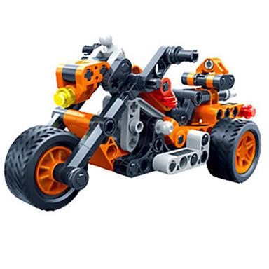 รถของเล่น Building Blocks ของเล่นชุดก่อสร้าง ของเล่นการศึกษา 118 pcs Moto Race Car Creative DIY Pull Back Vehicles รถแข่ง เด็กผู้ชาย เด็กผู้หญิง Toy ของขวัญ