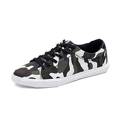 07aac500ff10 Men s Sneakers Comfort Light Soles Canvas Spring Summer Fall Casual Outdoor  Comfort Light Soles Lace-up Flat Heel Green Blue Flat 5607383 2019 –  34.99