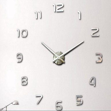 Storslått motedesign stor veggklokke hjem innredning 3d DIY klokke 3353458 OR-02