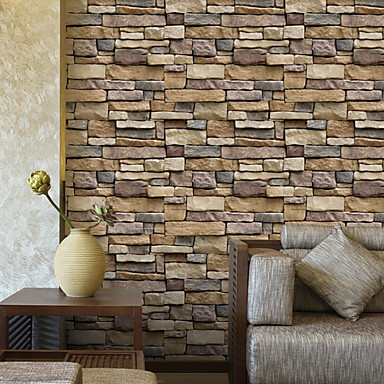 cheap Wall Art-3D Brick Stone Adhesive Wallpapers For Wall Home Decor 45cm*100cm