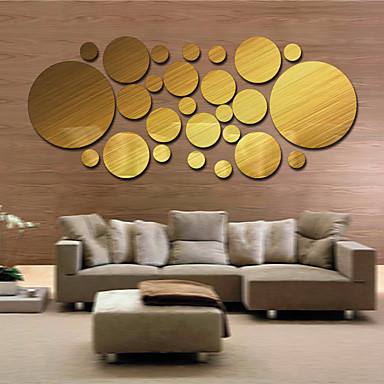 1 PC Mirrors Shapes Abstract Wall Stickers Crystal Wall Stickers ...