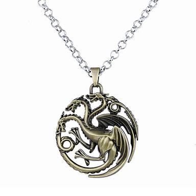 levne Pánské šperky-Pánské Dámské Náhrdelníky s přívěšky Logo Jedinečný design Visací Satanský Slitina Stříbrná Červená Bronzová Náhrdelníky Šperky Pro