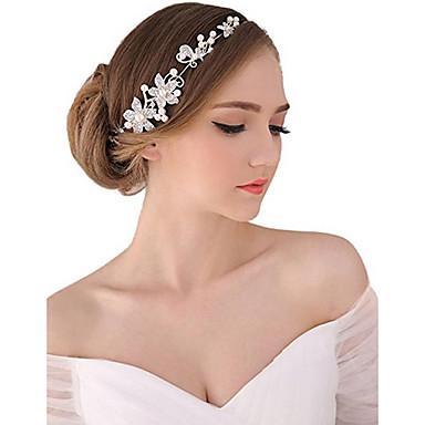 povoljno Party pokrivala za glavu-Biseri / Kristal / Tekstil tijare / Trake za kosu / Cvijeće s 1 Vjenčanje / Special Occasion / Zabava / večer Glava / Legura