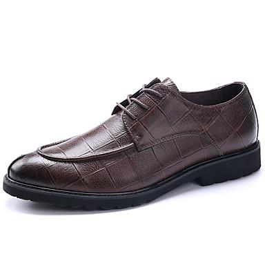 Hombre Zapatos Cuero Primavera / Otoño Botas de Moda / zapatos Bullock / Zapatos formales Oxfords Paseo Negro / Marrón / Rojo / Boda / Fiesta y Noche 06H6U5MilA
