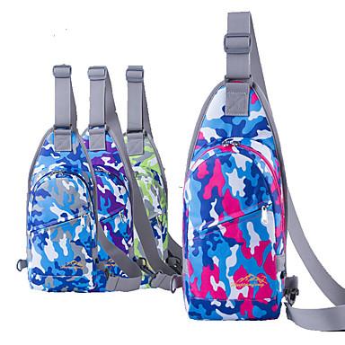 กระเป๋าสะพาย Chest Bag วิ่งแพ็ค สำหรับ แคมป์ปิ้ง & การปีนเขา กีฬาสันทนาการ การเดินทาง วิ่งออกกำลังกาย กระเป๋าสปอร์ต กันน้ำ กันน้ำฝน Dust Proof Terylene เล่นกระเป๋า