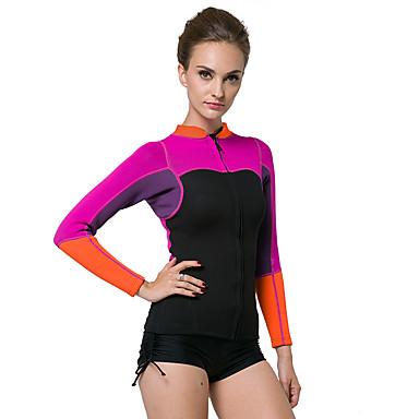e4ba73b2d894 [$36.04] Mujer Camisa de neopreno 2mm Neopreno Top Transpirable Diseño  Anatómico Manga Larga Buceo Clásico Verano / Elástico