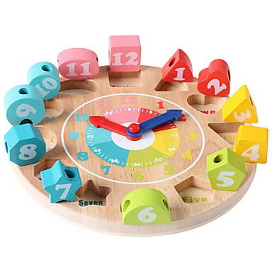 voordelige Rekenspeelgoed-QZM Rekenspeelgoed Houten klok speelgoed Educatief speelgoed Klok Onderwijs Kinderen Jongens Meisjes Speeltjes Geschenk 1 pcs