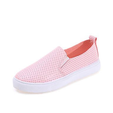 c08c951a34249c Women s Shoes Leatherette Summer Hole Shoes Flats Walking Shoes Flat Heel  Round Toe Hollow-out for Casual Outdoor White Black Pink 5673749 2019 –   17.99