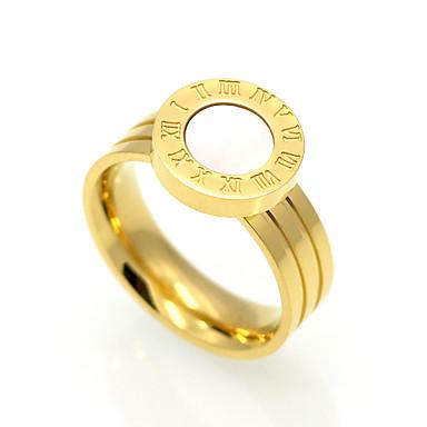 billige Motering-Herre Dame Band Ring Agat Hvit Svart Agat Titanium Stål Sirkelformet Personalisert Geometrisk Unikt design Julegaver Fest Smykker