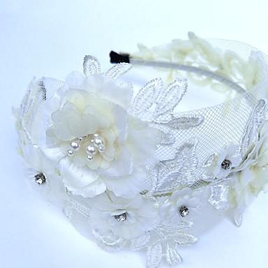 povoljno Party pokrivala za glavu-Čipka / Umjetno drago kamenje Trake za kosu / Cvijeće / Šeširi s Cvjetni print 1pc Vjenčanje / Special Occasion Glava