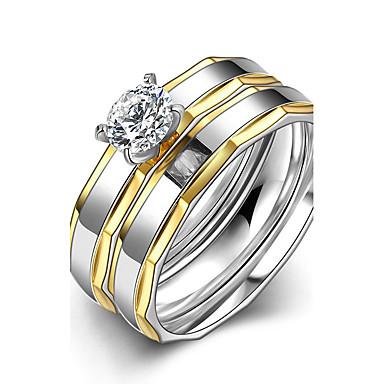699 Damskie Pierscionek Pierścionek Zaręczynowy Obrączki Minimalistyczny Styl ślubny Modny Stal Tytanowa Zaokrąglanie Biżuteria Prezenty