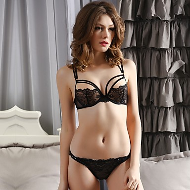 35bafb256 YUIYE® 3 4 cup Bras   Panties Sets Double Strap Adjustable Push-up Lace  Bras Underwire Bra Fixed Straps Cotton Lace 5737389 2019 –  54.72