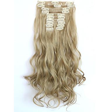 halpa Synteettiset hiuspidennykset-Clip In Synthetic Hiuspidennykset Hiusten pidennys