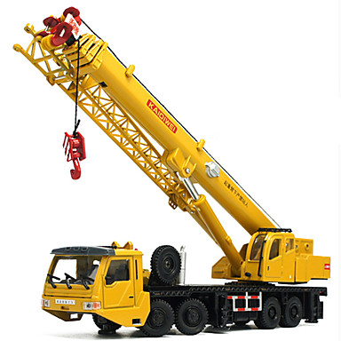 cheap Diecasts & Toy Vehicles-KDW 1:55 Plastic Metal Crane Toy Truck Construction Vehicle Toy Car Retractable Folding Kid's Teenager Car Toys