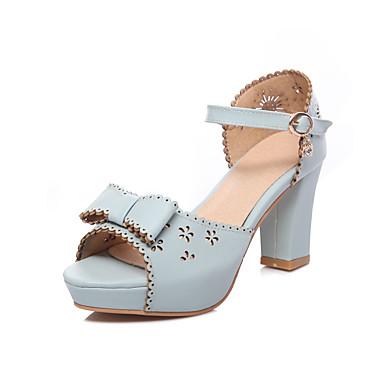 Zapatos blancos con hebilla de punta abierta para mujer 9TPuNmw