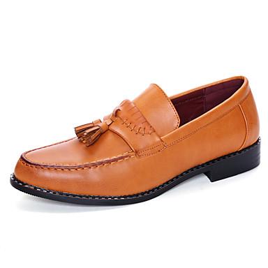 Hombre Zapatos Cuero Primavera / Verano Confort / Innovador / Zapatos formales Oxfords Negro / Amarillo / Boda / Fiesta y Noche 5aVXY