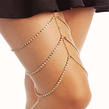 levne Dámské šperky-Dámské Tělové ozdoby Řetízek na nohu Kubický zirkon / drobný diamant Zlatá / Stříbrná Geometric Shape dámy / Módní Štras Kostýmní šperky Pro Párty / Zvláštní příležitosti Letní