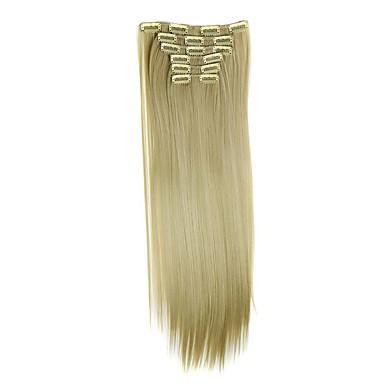 levne Syntetické příčesky-Umělé vlasy Prodlužování vlasů Volný Klasický Připínací Denní Vysoká kvalita