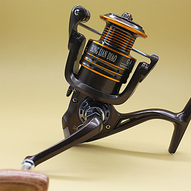 Gelendong Memancing Spinning Reels 5.2:1 อัตราทดเกียร์+13 บอลแบริ่ง หมุนขวา การตกปลาทั่วไป - GA4000