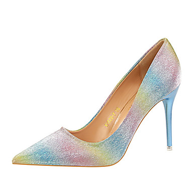 Women s Heels Spring Summer Club Shoes Comfort PU Glitter Office   Career  Party   Evening Dress Stiletto Heel Walking 5728526 2018 –  33.99 bba0bb331e