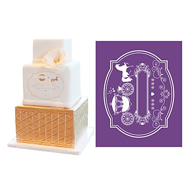 New Carriage Cake Fondant Molds Soft Mesh Stencil Lace Mat Wedding Decorating Suppliers Damask Template MST 31 5665329 2018 772