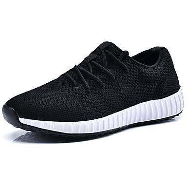 Hombre Zapatos Tejido Primavera / Verano Confort Zapatillas de deporte Negro / Gris xw6ASG