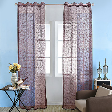 [$17.99] Country Sheer Curtains Shades One Panel Sheer Living Room Curtains  / Jacquard